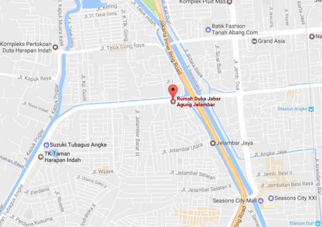 Peta Rumah Duka Jabar Agung Jelambar